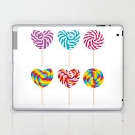 lollipops, colorful spiral candy cane with twisted design Laptop & iPad Skin
