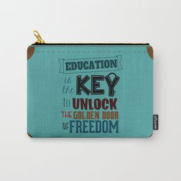 Lab No.4 - Education Is The Key To Unlock - George Washington Carver Inspirational Quotes poster Carry-All Pouch