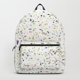 Classy vintage marble terrazzo pastel abstract design Backpack