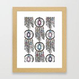 gemstone dreamcatcher Framed Art Print
