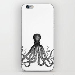 Antique Nautical Steampunk Octopus Vintage Victorian Kraken sea monster emo goth drawing iPhone Skin