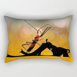 Assassin Bug Rectangular Pillow