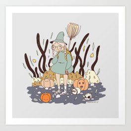 LOST ON THE WAY TO THE WITCH ACADEMY Art Print