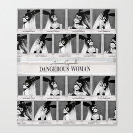 Dangerous Woman Drawings Design Pattern Canvas Print