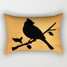 Cardinal Against Sunset Rectangular Pillow