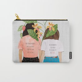 Motto #illustration #concept #painting Carry-All Pouch