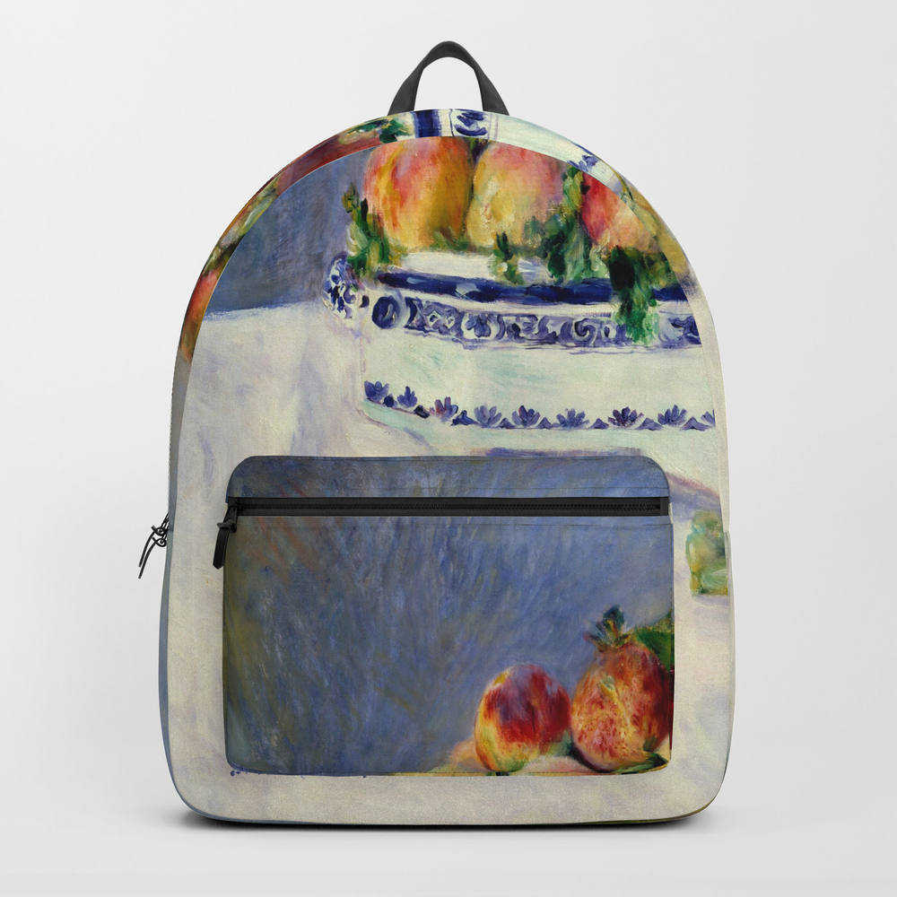 "Auguste Renoir """"still Life With Peaches And Grapes… Backpack by Alexandra_arts"" BKP9097175"