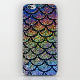 Cobalt Cantaloupe Scales iPhone Skin