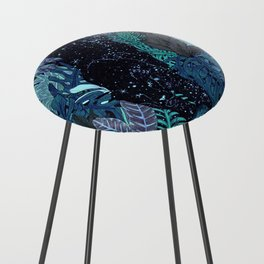 The Jungle at Night Colour Version Counter Stool
