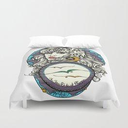 The 3 Birds of Rhiannon Duvet Cover