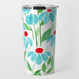 Turquoise World Travel Mug