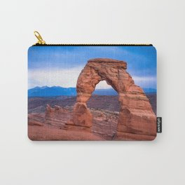 Delicate - Delicate Arch Glows on Rainy Day in Utah Desert Carry-All Pouch