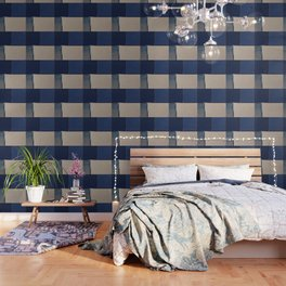 Toned Down Denim Wallpaper