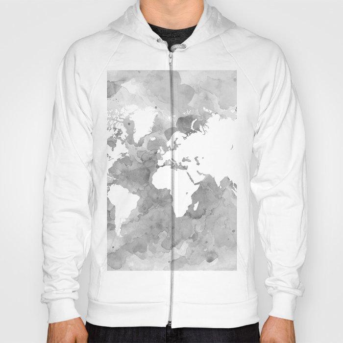 Design 49 grayscale world map hoody by artbylucie society6 design 49 grayscale world map hoody gumiabroncs Images