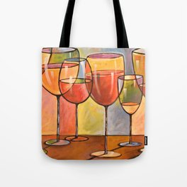 Whites and Reds ... abstract wine glass art, kitchen bar prints Tote Bag