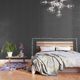 Classic White Pinstripe on White Wallpaper