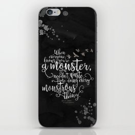 Six of Crows - Monster - Black iPhone Skin