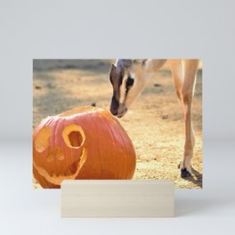 Fawn and Jack O Lantern by Reay of Light Mini Art Print