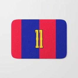 soccer team jersey number eleven Bath Mat