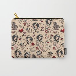 Suzy Sailor Pattern Carry-All Pouch