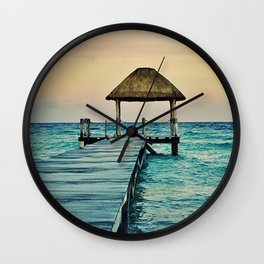 Mexico Sunset Wall Clock