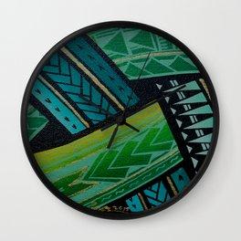Green Tatau Wall Clock