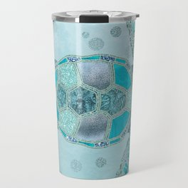 Glamour Aqua Turquoise Turtle Underwater Scenery Travel Mug