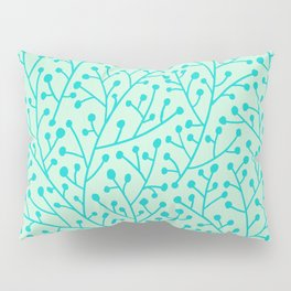 Berry Branches – Mint & Turquoise Palette Pillow Sham