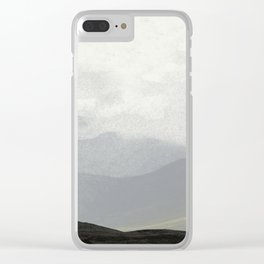 Rannoch Moor - mists and mountains Clear iPhone Case