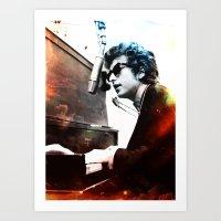 bob dylan Art Prints featuring Bob Dylan by Maioriz Home