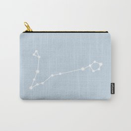 Pisces Zodiac Constellation - Pastel Blue Carry-All Pouch