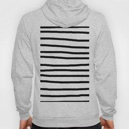 Simply Drawn Stripes in Midnight Black Hoody