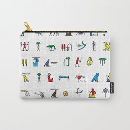 Egyptian hieroglyphics pattern Carry-All Pouch
