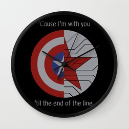 Stucky Shields (With Quote) Wall Clock