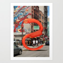Worm in NYC Art Print