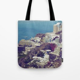 Oia from afar  Tote Bag