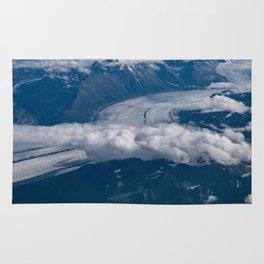 Aerial Glacier Two - Alaska Rug