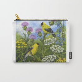 Goldfinches and Thistle Carry-All Pouch