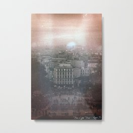35mm Scanned Negative of Paris, Developed in Coffee Metal Print