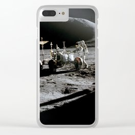 Apollo 15 - Moonwalk 1971 Clear iPhone Case