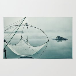 Frozen Fishing net Rug