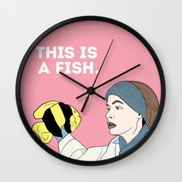 This is a Fish Wall Clock