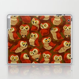 Northern Saw-whet owls pattern. Laptop & iPad Skin