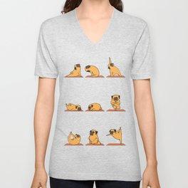 Pug Yoga Unisex V-Neck