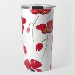Swedish Poppies Travel Mug