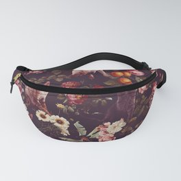Cat and Floral Pattern Fanny Pack