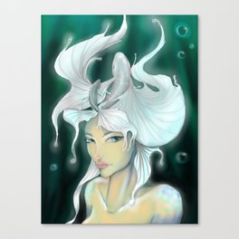 Don't trust the mermaid Canvas Print