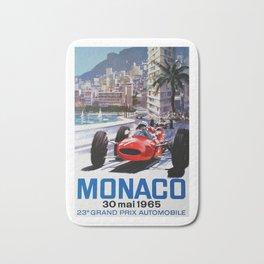 Grand Prix Monaco, 1965, vintage poster, race poster Bath Mat