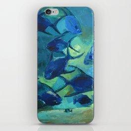 Covey blue fish iPhone Skin