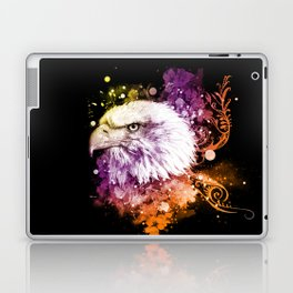 Awesome eagle with flowers Laptop & iPad Skin